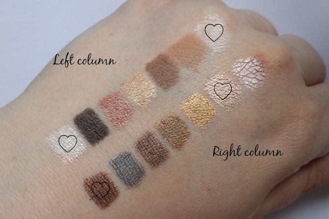 Makeup Revolution palette swatched