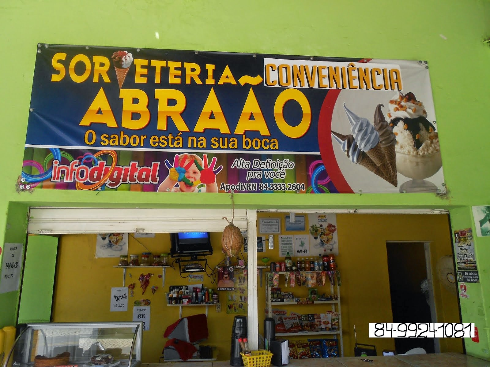 SORVETERIA CONVENIÊNCIA ABRAÃO-O SABOR ESTÁ NA SUA BOCA, PERTINHO DO BAR LEÃO