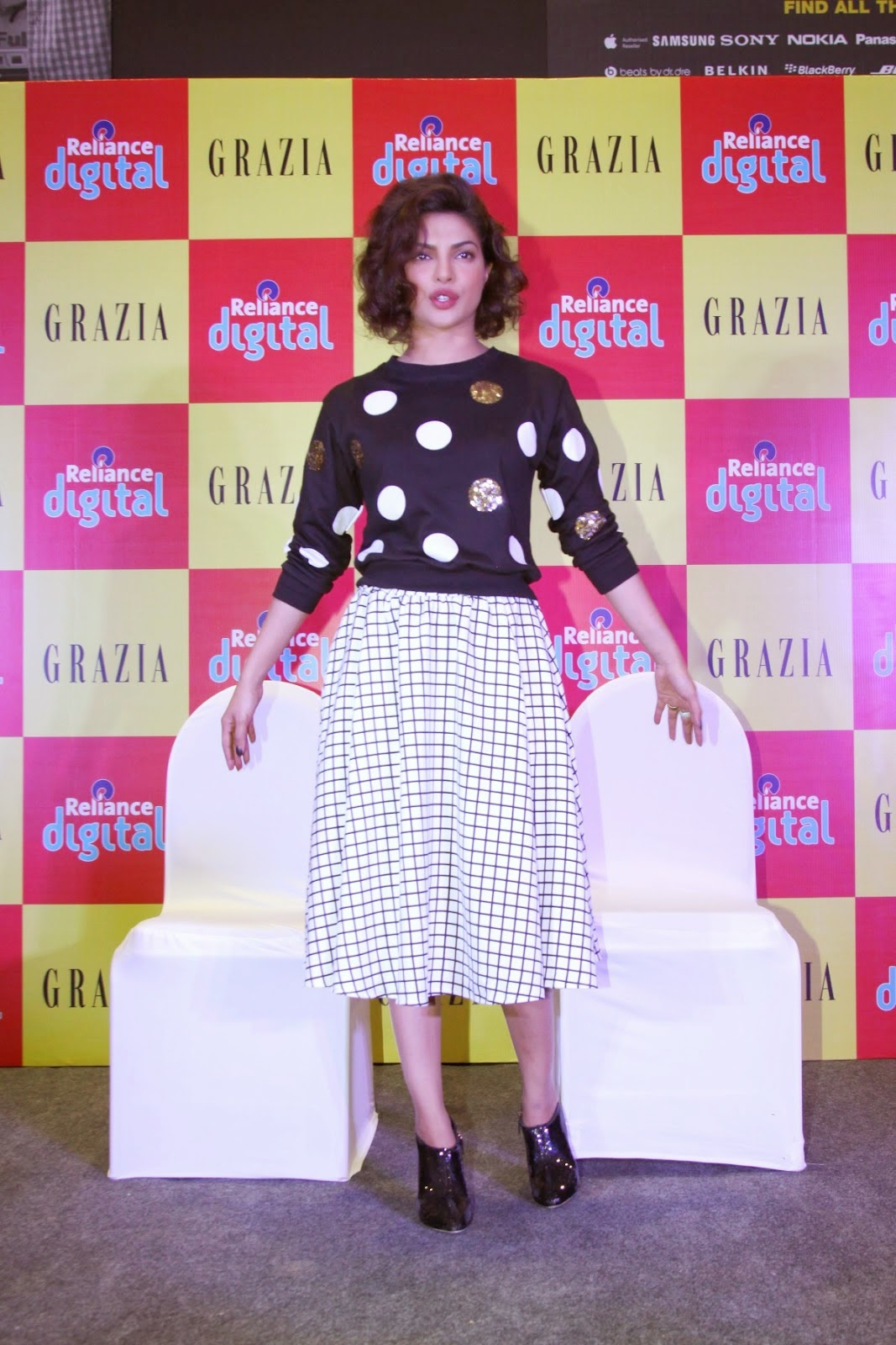 Priyanka Chopra Looking Hot on Cover Launch of Grazia Magazine