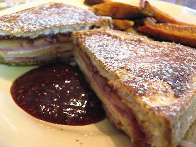 Monte Cristo Sandwich & Sweet Potato Fries photo by kimberlykv