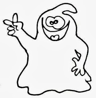 Halloween Ghosts for Coloring, part 1