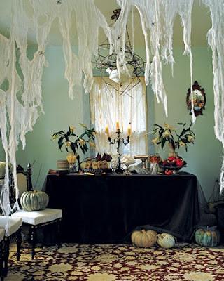 mesa decorada halloween