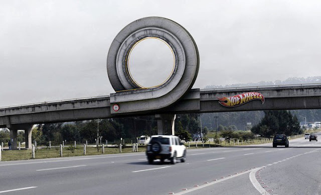 Hot Wheels billboard