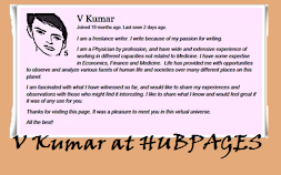 V Kumar at Hubpages