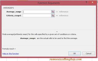 fungsi argumen rumus averageifs