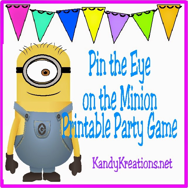 Pin the eye on the Minion at your Minion party with this printable party game.  Print as many eyes as you want for as many players as you have and go to town play this fun Minion party game.