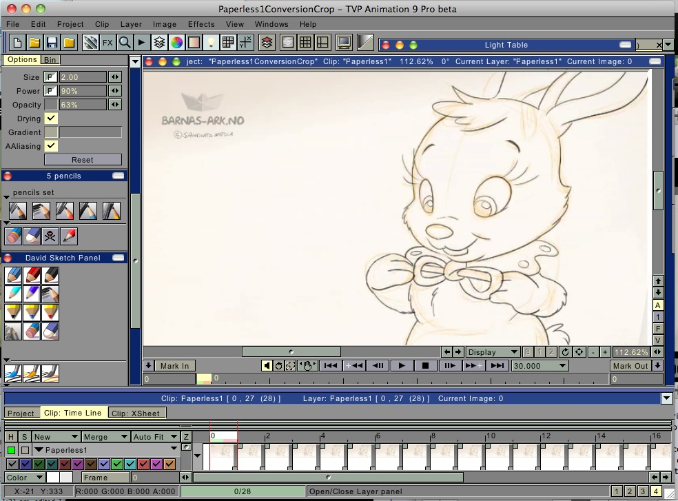 Hand drawn animation notes alf pr ysen 39 s barnesanger Free 2d software