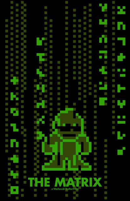 poster 8 bit matrix