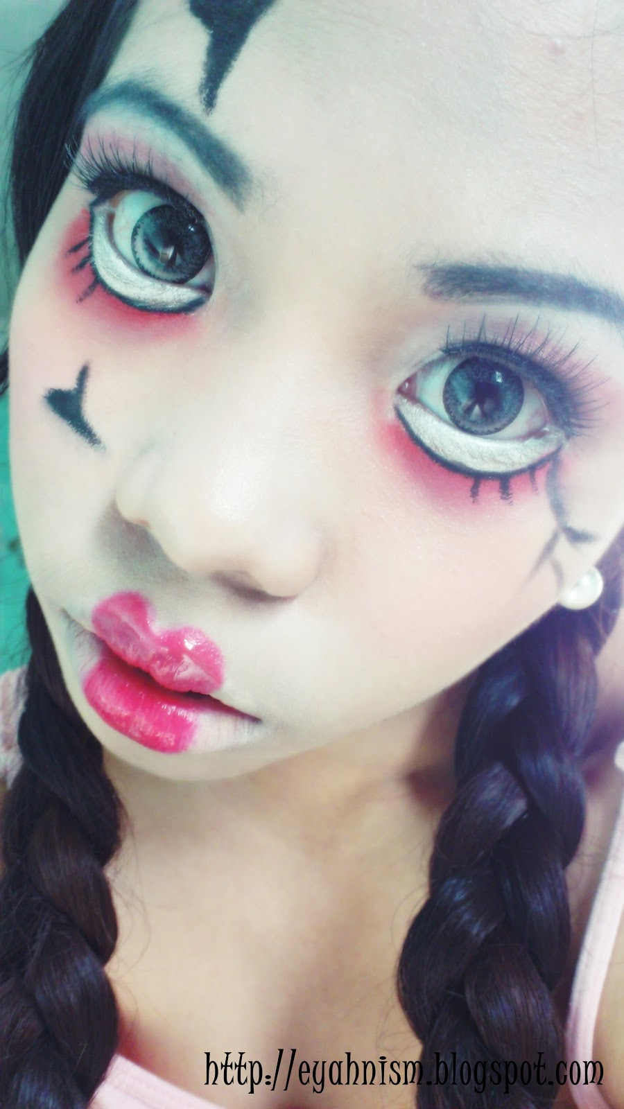 halloween makeup collaboration scary doll look