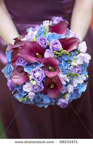 The Journey of a Beautiful Wedding Hand Bouquet brown purple blue weddings