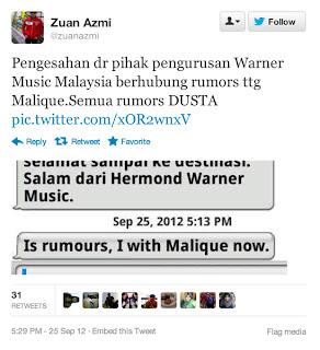 zuan zami nafi malique meninggal