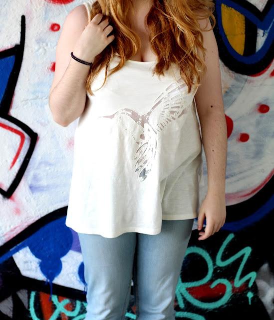 Zoom t-shirt Etam blanc Colibri
