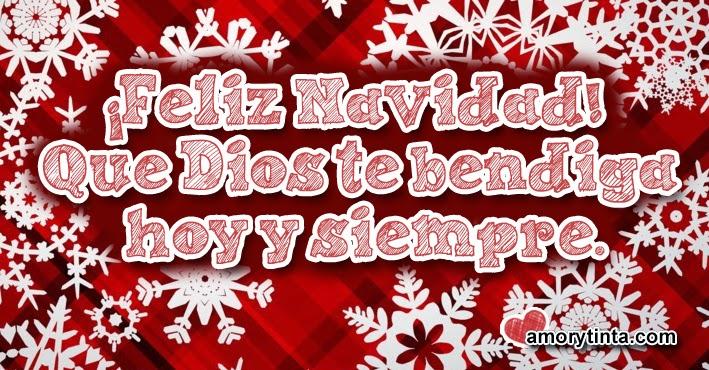 frase de navidad con fondo de copos de nieve