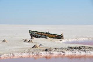 Chott el Jerid - lago de sal - Túnez