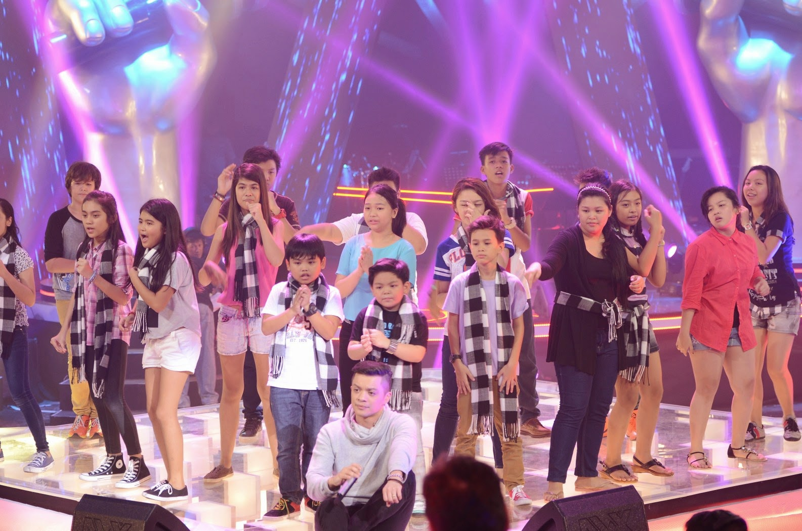 Bamboo in tears picking Final 2 artists on The Voice Kids PH