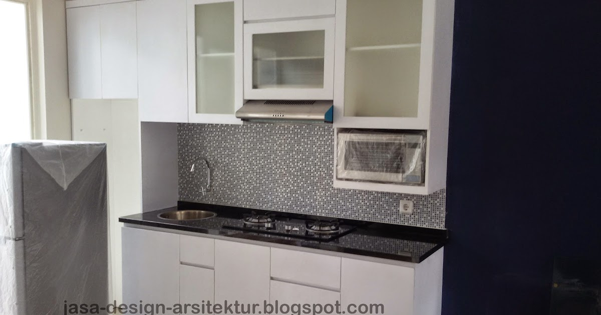 Kontraktor interior surabaya sidoarjo desain kitchen set for Kitchen set hitam putih