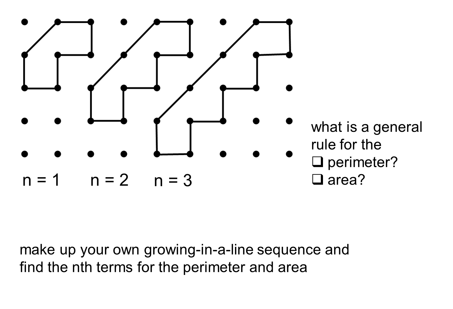 The Idea For Using The Two Different Lengths Between Dots ( 1 And Root 2)