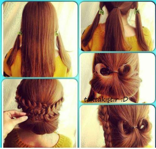 Легкие прически в школу своими руками для длинных волос 89