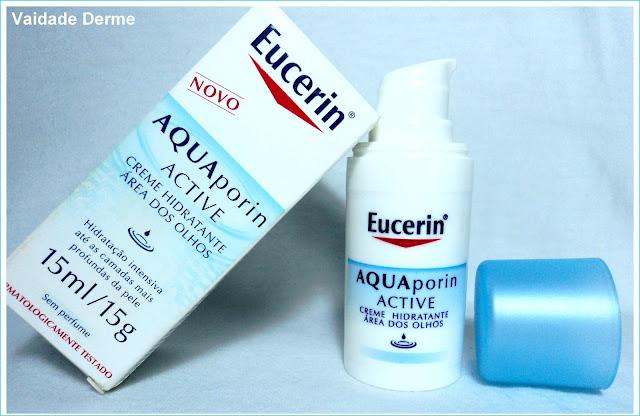 Aquaporin Active Creme Hidratante Área dos Olhos da Eucerin Hidratação para os olhos