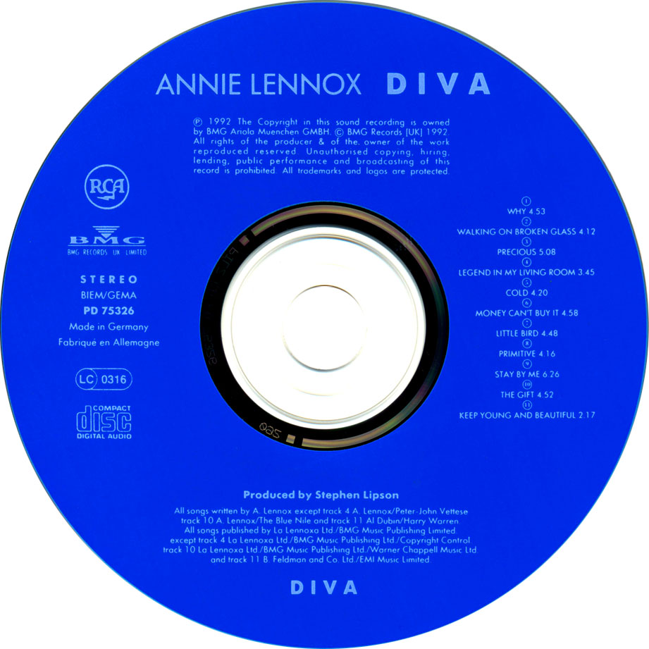 Diva annie lennox - Annie lennox diva album cover ...