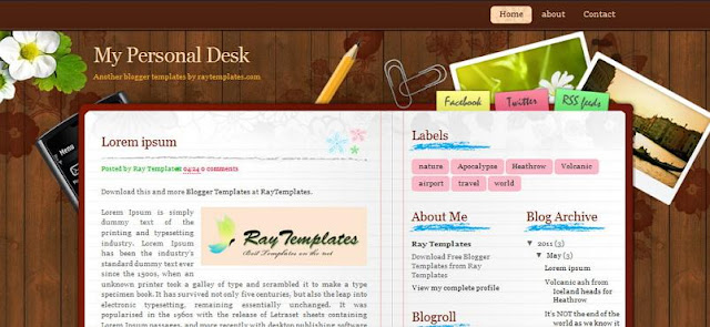 free beautiful and colorful blogspot templates to download for
