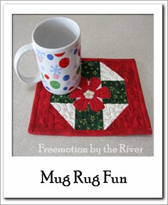Free Mug Rug Tutorial at Freemotion by the River