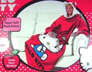 Hello Kitty snuggie warm cozy throw with sleeves and ears