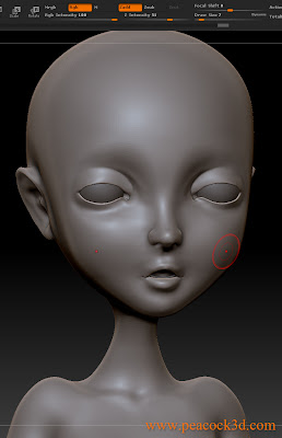 ZBrush Sculpture Bust Girl 3D Head