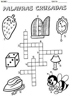 Atividades para alfabetização - Cruzadinhas 2.