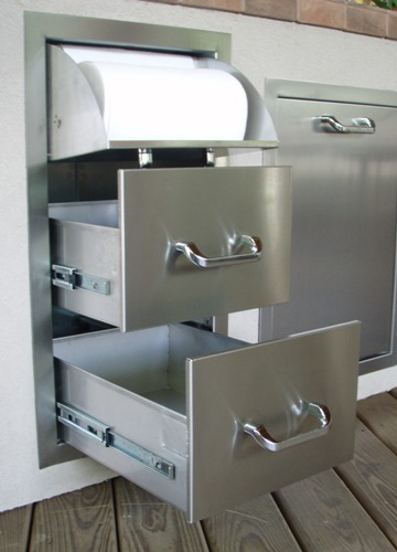 Stainless Steel Drawers Outdoor Kitchen Doors