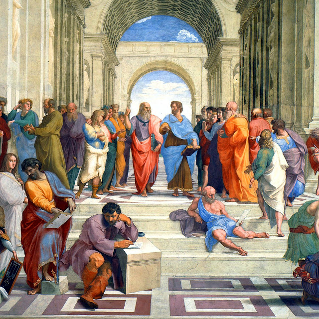 The School of Athens - Socrates and Plato
