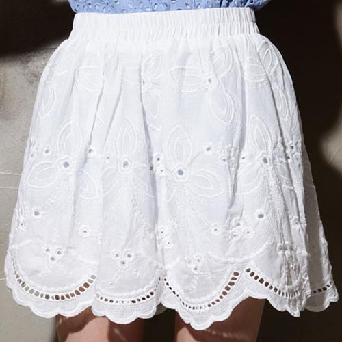 Charlotte Eyelet Flare Skirt
