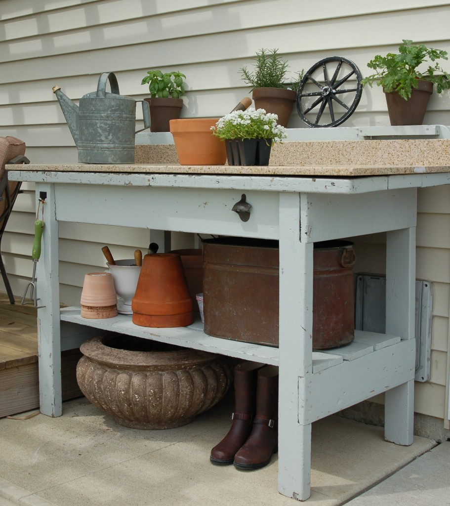 Parkdale ave gardening must haves the potting bench for Garden potting bench designs