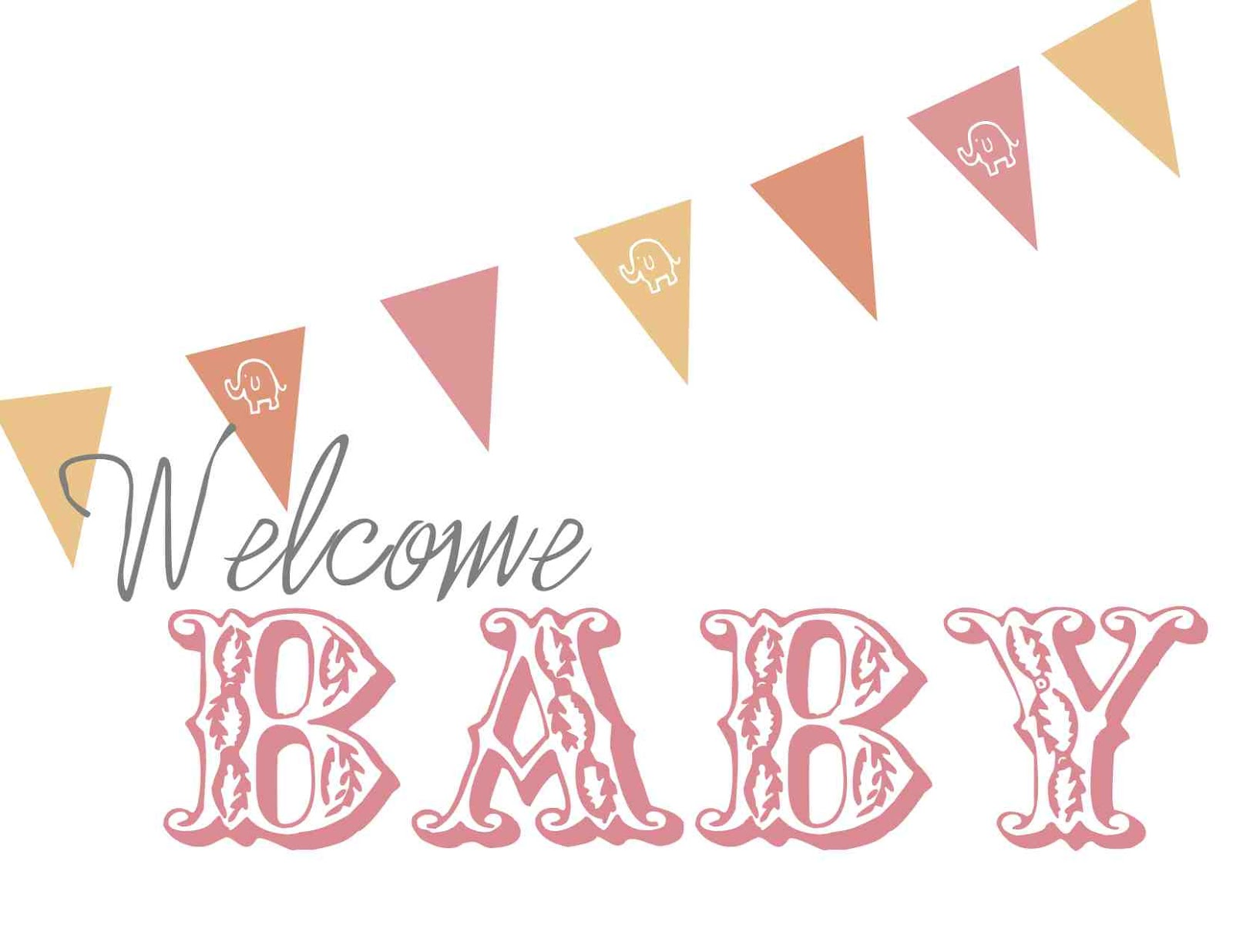Baby Shower Banners. pink and gold baby shower banner welcome baby ...