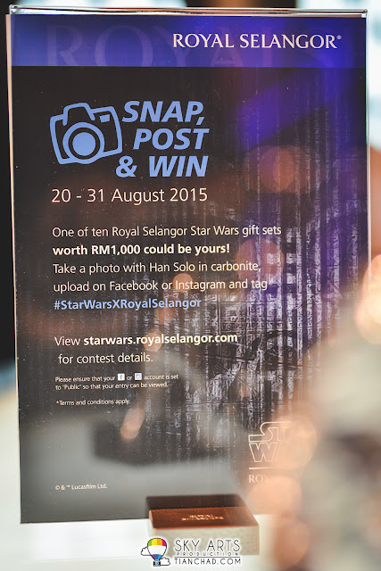 STAR WARS x ROYAL SELANGOR Instagram giveaway worth RM1,000 gift set