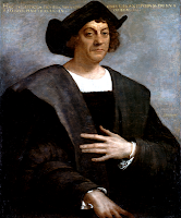Portrait of Christopher Columbus looking proud and serious