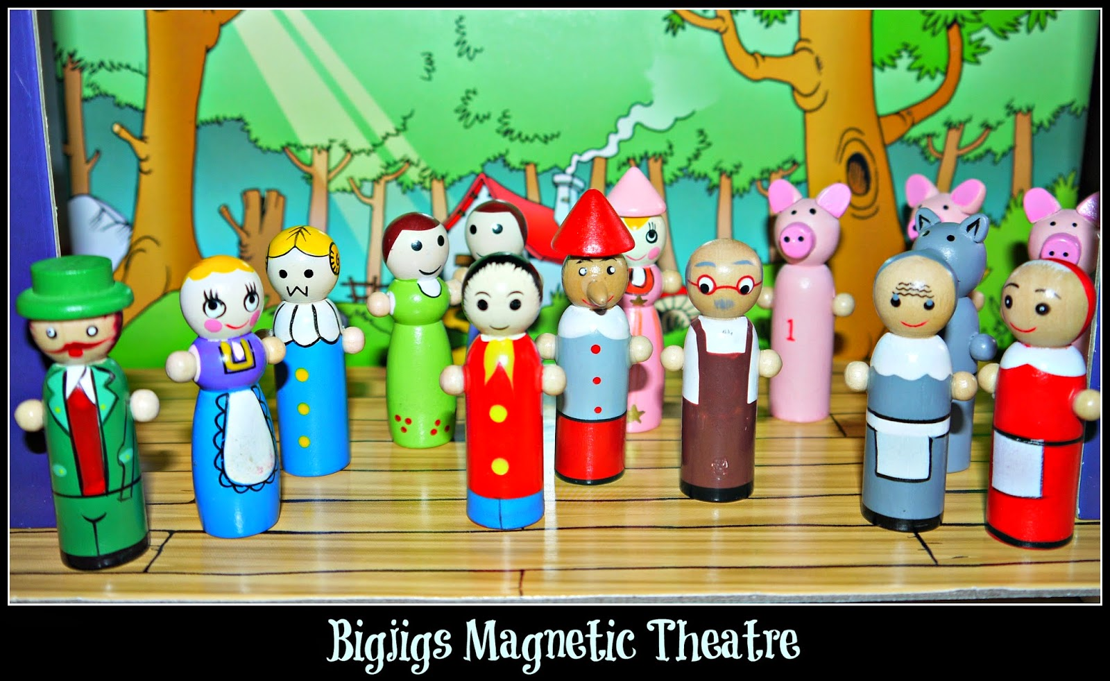 wooden toys, Bigjigs, cast