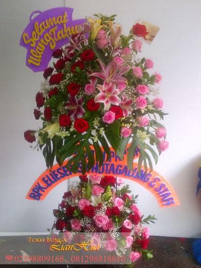 standing flowers ucapan selamat ulang tahun