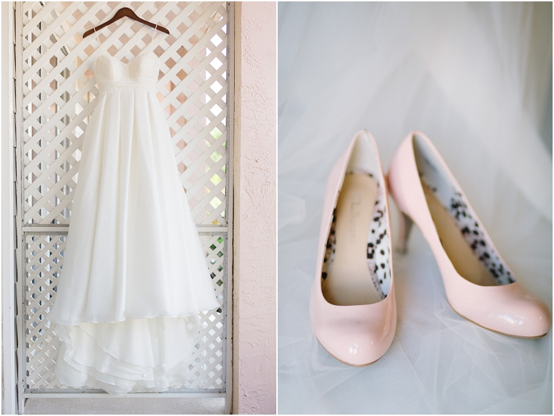wedding dress blush pink