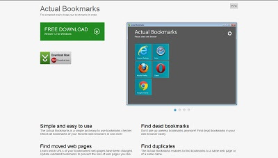 Actual Bookmarks, Bookmark Manager