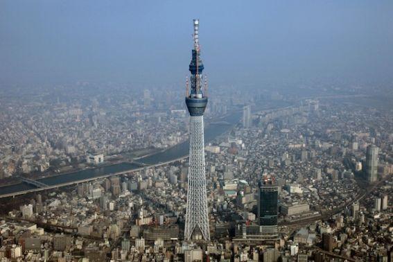A torre Sky Tree, no Japão entrou para o livro dos recordes como a mais alta do mundo