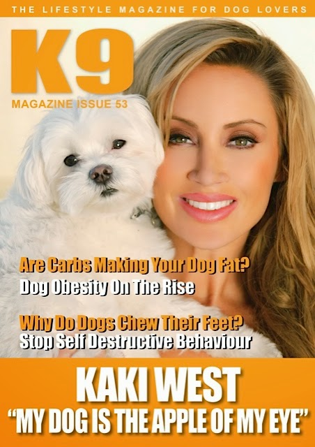 Kaki West K9 Magazine Cover: A Woman's Best Friend