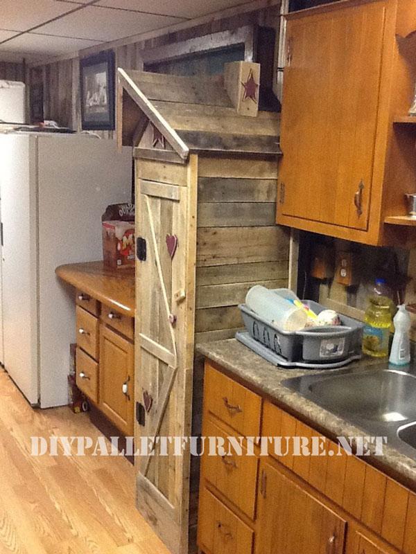 Armario despensa para la cocina - Muebles de palets para cocina ...