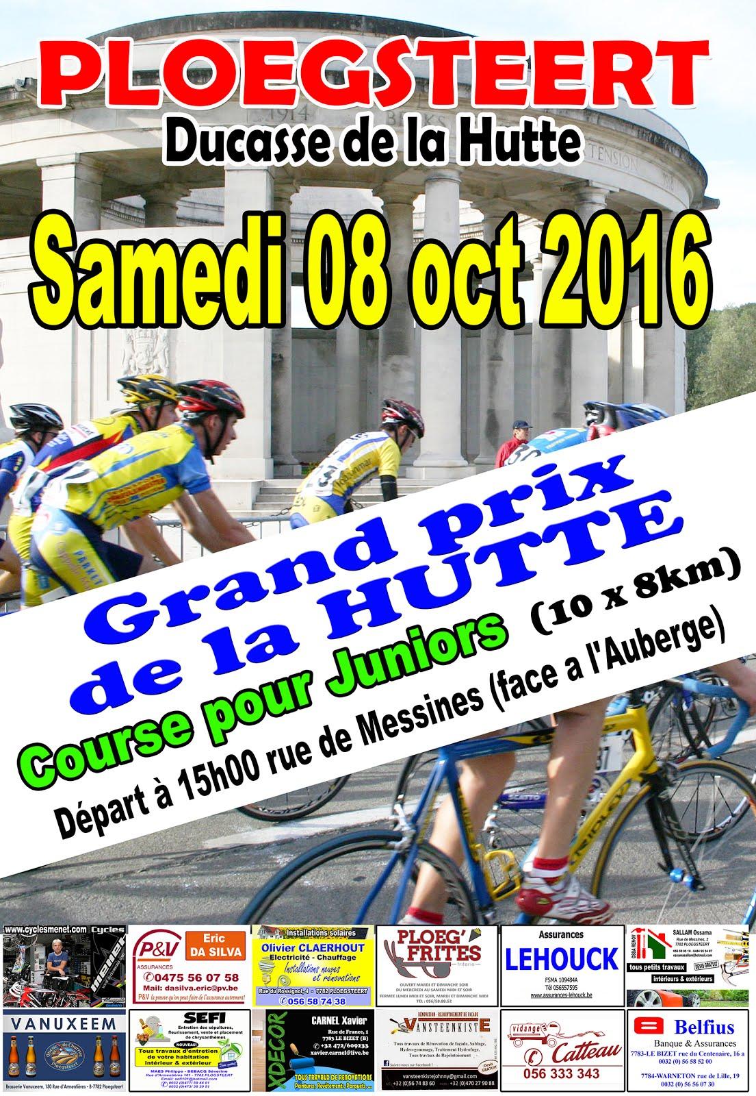 Course Cycliste pour Juniors 8 octobre à La Hutte