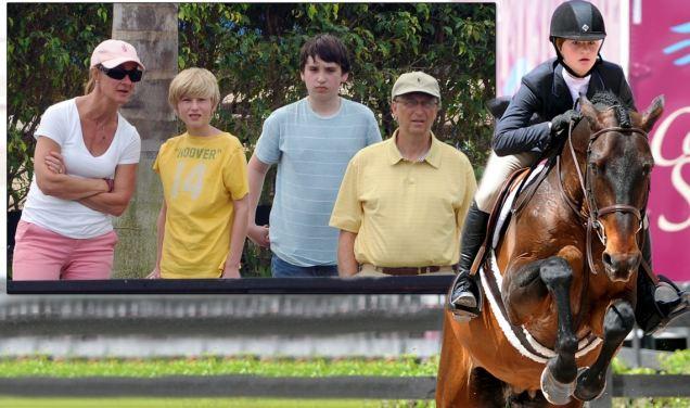 news article bill gates blows daughter jennifer horseriding