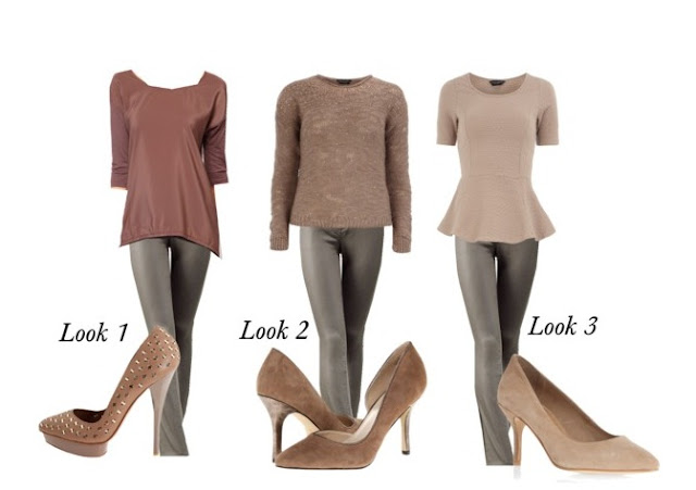 How to wear taupe, coated jeans, high low top, primadonna-style