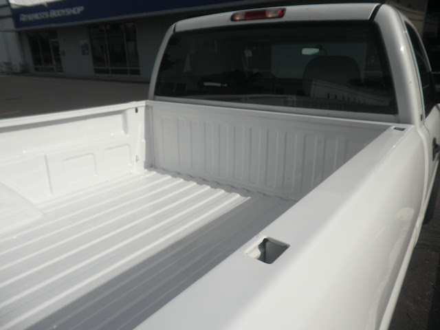 Salvaged bed with new paint on Chevy Silverado Pickup at Almost Everything Auto Body