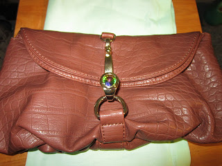 Deux Lux Sam Hook Clutch Cognac