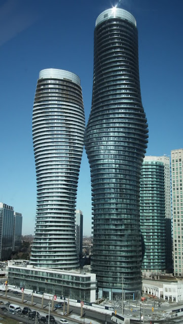 Photo of towers as seen from across the street