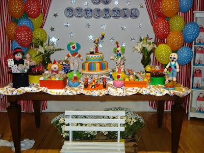 Festa    Anivers  Rio 1 Ano   Tema Circo